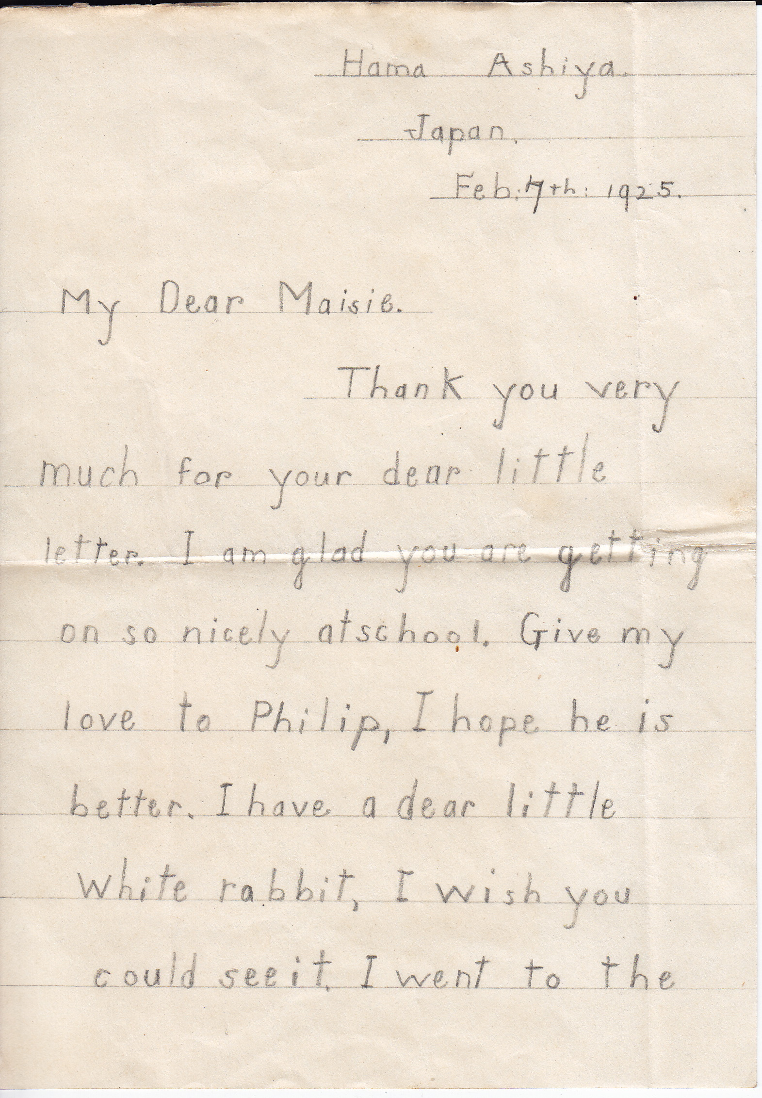 Letter, Page 1